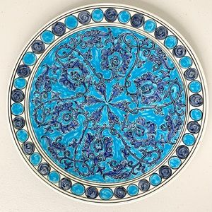 Keramikos Athens Greece Hand Painted Wall Plate
